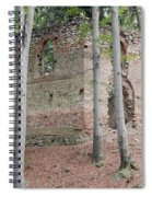Ruins Of The Baroque Chapel Of St. Mary Magdalene Spiral Notebook