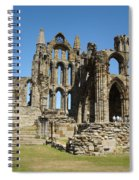 Ruins Of Whitby Abbey Spiral Notebook