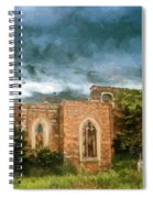 Ruins Under Stormy Clouds Spiral Notebook