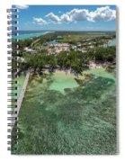 Rum Point Beach Panoramic Spiral Notebook
