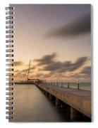 Rum Point Grand Cayman At Dusk Spiral Notebook