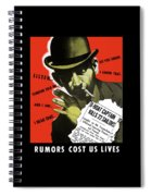 Rumors Cost Us Lives Spiral Notebook