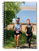Runners At The 24 Hours Of Triathlon Spiral Notebook