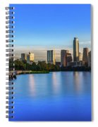 Runners, Joggers And Bikers Take An Early Morning Stroll On The The Boardwalk Trail Spiral Notebook