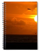 Running By Dusk Spiral Notebook
