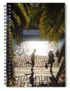 Running In The Light Spiral Notebook
