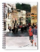 Running Of The Bulls Spiral Notebook