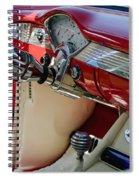 Running Red Spiral Notebook
