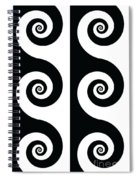 Running Spirals Spiral Notebook