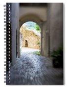 Running Through Tunnel Spiral Notebook