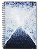 Running Water On Black Background Spiral Notebook