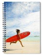 Running With Surfboard Spiral Notebook