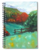 Rural Autumn Landscape Spiral Notebook