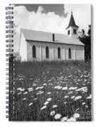 Rural Church In Field Of Daisies Spiral Notebook