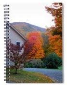 Rural Colorful Autumn Landscape 4 Spiral Notebook