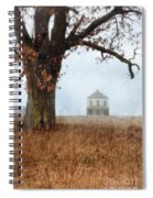 Rural Farmhouse And Large Tree Spiral Notebook