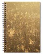 Rural Field At Sunrise Spiral Notebook