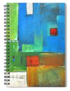 Rural Landscape Rusted Spiral Notebook