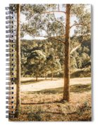 Rural Paddock In Australian Countryside Spiral Notebook