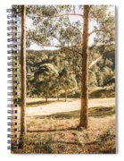 Rural Paddock In Australian Countryside Spiral Notebook