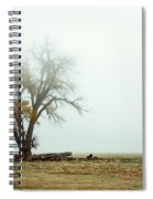 Rural Pasture And Tree Spiral Notebook
