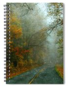 Rural Road In North Carolina With Autumn Colors Spiral Notebook