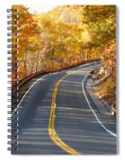Rural Road Running Along The Maple Trees In Autumn 2 Spiral Notebook