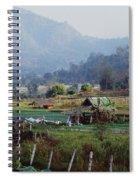 Rural Scene Near Chiang Mai, Thailand Spiral Notebook