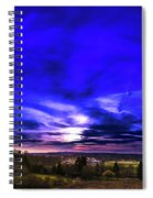Rural Sunset Panorama Spiral Notebook