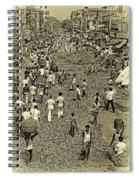 Rush Hour - Antique Sepia Spiral Notebook
