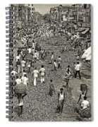 Rush Hour - Sepia Spiral Notebook