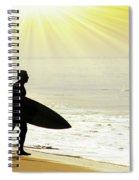 Rushing Surfer Spiral Notebook