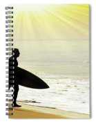 Rushing Surfer Spiral Notebook