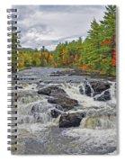 Rushing Towards Fall Spiral Notebook