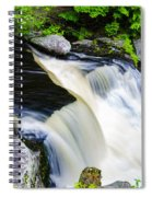 Rushing Water On A Mountain Stream Spiral Notebook