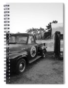 Russel Farms 1951 Ford F100 Black And White Spiral Notebook