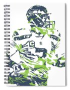 Russell Wilson Seattle Seahawks Pixel Art 10 Spiral Notebook