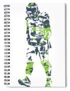 Russell Wilson Seattle Seahawks Pixel Art 11 Spiral Notebook