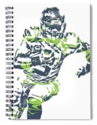 Russell Wilson Seattle Seahawks Pixel Art 12 Spiral Notebook