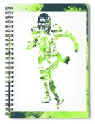 Russell Wilson Seattle Seahawks Water Color Art 1 Spiral Notebook