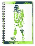 Russell Wilson Seattle Seahawks Water Color Art 2 Spiral Notebook