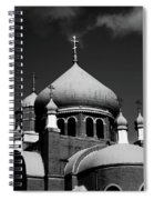 Russian Orthodox Church Bw Spiral Notebook
