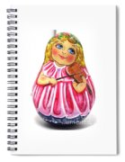 Russian Roly Poly Doll Music Doll Spiral Notebook