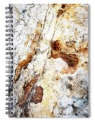 Rust Colored Limestone Rock Spiral Notebook