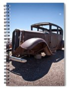 Rusted Old Car On Route 66 Spiral Notebook
