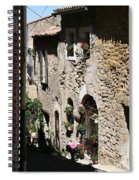 Rustic Provence Alley Spiral Notebook