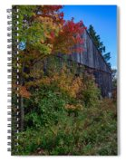 Rustic Barn Above The Fall Colors Spiral Notebook