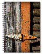 Rustic Barn Hinge Spiral Notebook