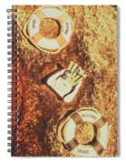 Rustic Beach Decorations  Spiral Notebook