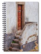 Rustic Brown Door Of Portugal Spiral Notebook
